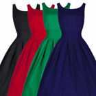 Womens Ladies Sleeveless Cutaway Swing Pleated Flared Skater Midi Dress