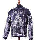 DOLCE & GABBANA RUNWAY Embroidery Silk Longsleeve T-Shirt Cathedral Print 04360