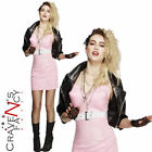 80s Rocker Diva Costume Fancy Dress Kim Wilde Ladies Outfit UK 8-18 New