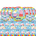 PEPPA PIG Tableware Plates Cups Napkins Tablecover PARTY KITS 8 - 48 Guests