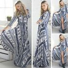 Fashion Summer Women Girls Maxi Long Floral Bohemian Irregular Maxi Beach Dress