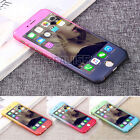 Slim! Hybrid 360° Shockproof Case Tempered Glass Cover For iPhone 8 7 6s Plus 5S