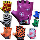 Kids Cycling Padded Gloves Bicycle Cycle BMX Gloves Children Youths Junior