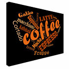 Coffee Artwork Typography Canvas wall Art prints high quality great value