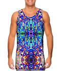 Yizzam- Psychedelic Neon Soap Party Violet - New Men Tank Top Tee Shirt XS S M