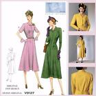 Vogue V9127 Sewing Pattern - Misses' 1939 Retro Vintage Dress - 1930's