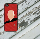 Star Trek Minimalist Picard for iPhone 5/5s/5c/6/6s/7 Galaxy S4/S5/S6/S7 Rubber
