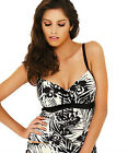 NEW Panache Claudette Underwired Tankini Top SW0651 Black/Ivory