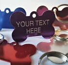 Luxury Engraved Dog Bone Pet Name Id Tag Cat puppy collar disc disk I am chipped