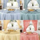 """Gingham Check Kitchen 63"""" Round Tablecloths - 4 Colours"""