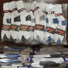 Внешний вид - Wholesale Bulk Lots Men Crew Socks White W/Color Sports Casual Cotton 9-11 10-13