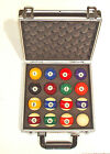 "VARIOUS TYPES OF AMERICAN 2 1/4"" POOL BALLS SUPPLIED IN A CASE $119.7 USD on eBay"