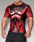 "Under Armour Herren T-shirt""Future Warrior Compression T"",Schwarz&Rot"