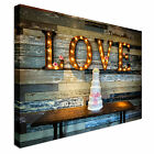 All You Need Is Love Vintage Canvas wall Art prints high quality great value