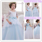 Flower Girl Dresses for Princesses Wedding Bridals Pageant Party Birthday Prom B