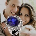 Diana Kate & William Sapphire Engagement Ring with Gift Box and Pouch