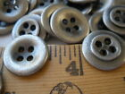"""Industrial Shirt Buttons 4-hole Metal Antique silver color 24L 15MM 5/8"""" pewter"""