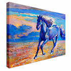 Running Blue Horse Canvas Wall Art prints high quality