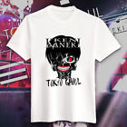 Anime White Cotton Basic TEE Tokyo Ghouls Cosplay T Shirt Cotton Couple
