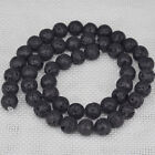 """Natural Volcanic Lave Gemstone 4mm 6mm 8mm 10mm Round Beads 15.5"""""""