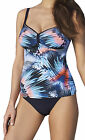 Sunflair Tankini- Set ungefüttert mit Slip Gorgeous Feather 28035 blau