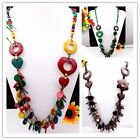 New Assorted Mixed Colors Handmade Coconut Shell Heart Beads Necklace OPTION