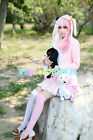 Danganronpa Dangan-Ronpa 2 Monomi mix pink/white Cosplay Costume fancy dress