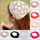 NEW Women Bandanas Lace Head wrap girls chic turban Hair Band Headband bandanas