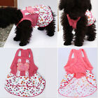 Pet Dog Puppy Lace Floral Flower Skirt Dress Crystal Bowknot Princess Clothes HF