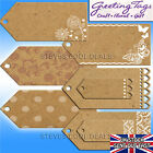 GIFT LABELS PARCEL CRAFT WEDDING FAVOR JAR NAME TAGS BROWN PAPER NATURAL CARD