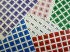 Mens Clothes Size Stickers Coloured Square Self-Adhesive Clothing Labels