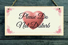 Please Do Not Disturb Personalised Plaque - gift home vintage style Shabby Chic