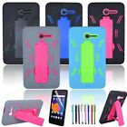 NEW Hybrid Heavy Duty Protective Case W/Stand for Alcatel Tablet + Screen Film