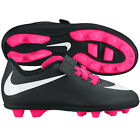Nike Braveto Velcro FG R 2015 Soccer Shoes New Black - Pink Kids Youth