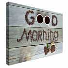 Good Morning Coffee Beans Canvas Wall Art prints high quality