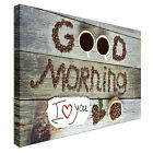 Good Morning Coffee Beans I Love You Canvas Wall Art prints high quality