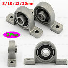New 2Pcs Zinc Alloy 8/10/12/20mm Bore Diameter Ball Bearing Pillow Block Mounted