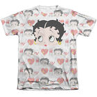BETTY BOOP SYMBOL SUB Front Sublimation Licensed Men's Tee Shirt SM-3XL $26.15 USD