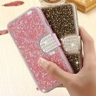 Luxury Bling Rhinestone Diamond Stand Card Leather Flip Wallet Phone Case Cover