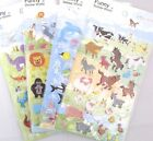 Funny Sticker World Dinosaurs, Zoo, Sea OR Farm Animals Puffy Sticker Sheet
