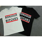 Hot Selling T-shirt Letters Print Round Neck Short Sleeves Hipster Cotton Tops