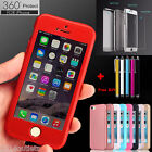 Ultra-thin Shockproof Hard Case Cover+Tempered Glass For iPhone SE 5S 6 6S Plus