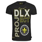 New Mens DLX ORIGINAL BLACK Tshirt Beach Summer Round Neck Casual UK S M L XL