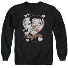 BETTY BOOP CLASSIC KISS Licensed Pullover Crewneck Sweatshirt SM-3XL $38.22 USD