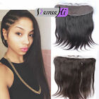 "100% India Virgin Human Hair Extension Silk Straight 13""*2"" Lace Frontal Closure"