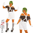 Factory Worker Oompa Loompa Umpa Lumpa Ladies Womens Fancy Dress Costume & Wig