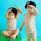 "Vaenait Baby Kids Boy Clothes Short Sleeveless Pyjama Outfit ""Alpha team"" 12M-7T"