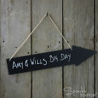 LARGE Hanging Chalkboard Arrow Signs - Direct to Wedding/ Party/ Bar/ Photobooth