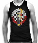 Bigger Spark Better Bang Hot Plug Pin Up V8 Hot Rod Biker Mens Black Tank Top T