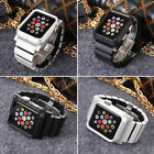 Aluminum Strap Wristband + Metal Protective Cover Case For Apple Watch 38mm/42mm